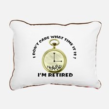 I'm Retired Rectangular Canvas Pillow