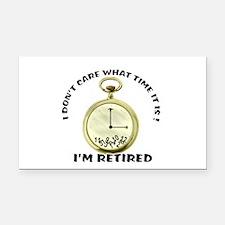 I'm Retired Rectangle Car Magnet