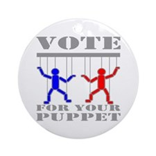 Vote For Your Puppet Ornament (Round)