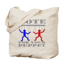 Vote For Your Puppet Tote Bag