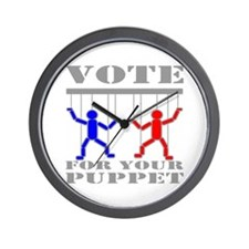 Vote For Your Puppet Wall Clock