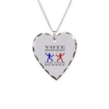 Vote For Your Puppet Necklace Heart Charm