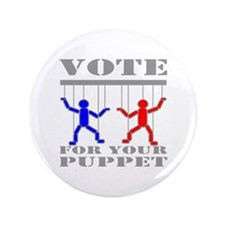 """Vote For Your Puppet 3.5"""" Button"""