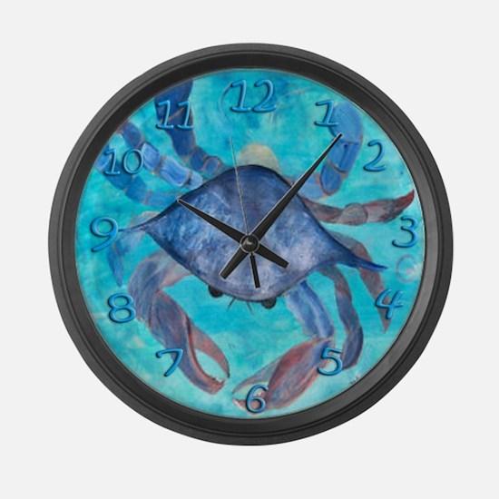 Blue Crab Large Wall Clock