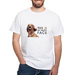 Happy Face Dachshund White T-Shirt