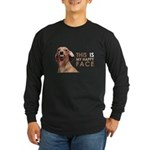 Happy Face Dachshund Long Sleeve Dark T-Shirt
