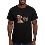 Happy Face Dachshund Men's Fitted T-Shirt (dark)