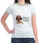 Happy Face Dachshund Jr. Ringer T-Shirt
