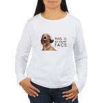 Happy Face Dachshund Women's Long Sleeve T-Shirt