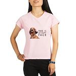 Happy Face Dachshund Performance Dry T-Shirt