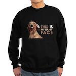 Happy Face Dachshund Sweatshirt (dark)