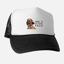 Happy Face Dachshund Trucker Hat