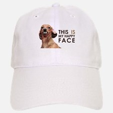 Happy Face Dachshund Baseball Baseball Cap