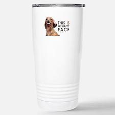 Happy Face Dachshund Travel Mug