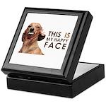 Happy Face Dachshund Keepsake Box