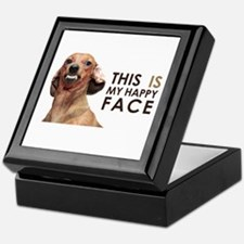 Happy Face Dachshund Keepsake Box