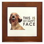 Happy Face Dachshund Framed Tile
