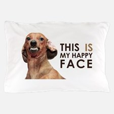 Happy Face Dachshund Pillow Case