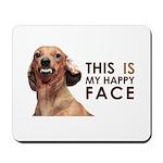 Happy Face Dachshund Mousepad