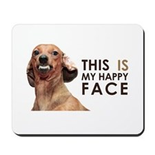 Happy Face Dachshund Mousepad