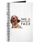 Happy Face Dachshund Journal