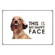 Happy Face Dachshund Banner