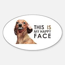 Happy Face Dachshund Decal
