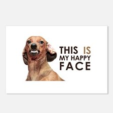 Happy Face Dachshund Postcards (Package of 8)