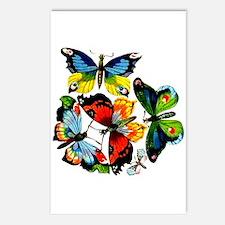 Flock Of Butterflies Postcards (Package of 8)