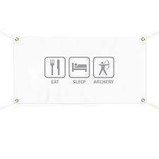 Eat Sleep Archery Banner