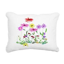 Flower Bunches Rectangular Canvas Pillow