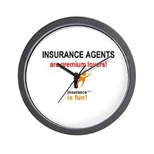 Wall Clock: Insurance is fun! Insurance Agents