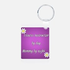Fitness Instructor by day Mommy by night Keychains
