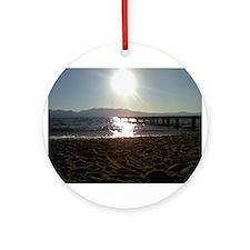 Beautiful Tahoe Beach Ornament (Round)