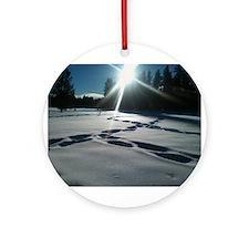 Tahoe's Winter Ornament (Round)