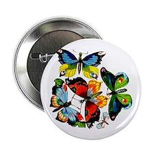 Flock Of Butterflies Button
