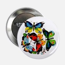 Flock Of Butterflies Button