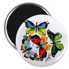 Flock Of Butterflies Magnet