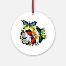 Flock Of Butterflies Ornament (Round)