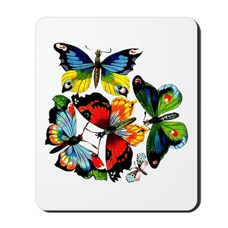 Flock Of Butterflies Mousepad