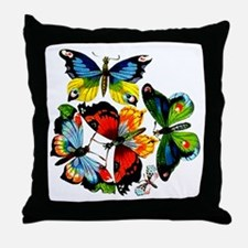 Flock Of Butterflies Throw Pillow