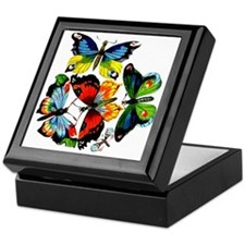 Flock Of Butterflies Keepsake Box