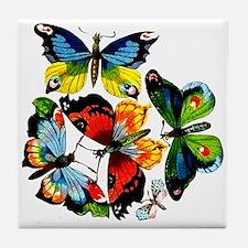 Flock Of Butterflies Tile Coaster
