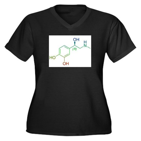 Adrenaline Women's Plus Size V-Neck Dark T-Shirt