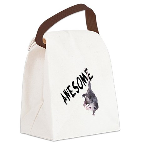 possum32b.png Canvas Lunch Bag