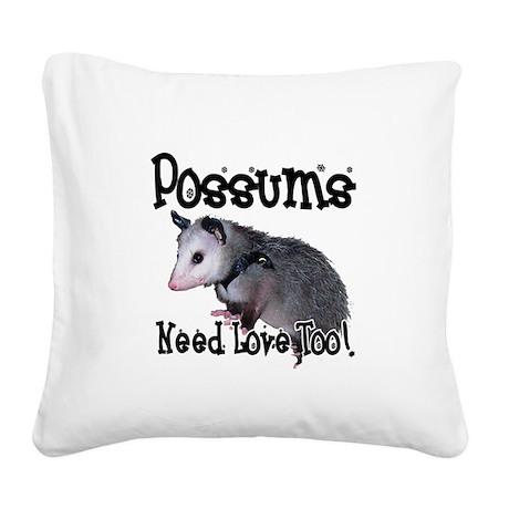 possum34.png Square Canvas Pillow