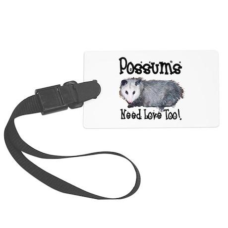 possum33.png Large Luggage Tag