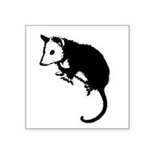 """possumsil2.png Square Sticker 3"""" x 3"""""""