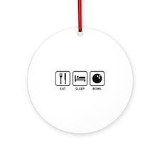 Eat Sleep Bowl Ornament (Round)