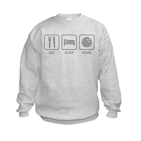 Eat Sleep Bowl Kids Sweatshirt